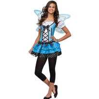 Teen Girls Blue Belle Fairy Costume