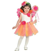 Toddler Girls Fuchsia Daisy Princess Costume