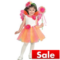 Girls Fuchsia Daisy Fairy Princess Costume