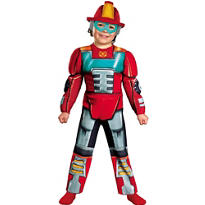 Toddler Boys Heatwave Muscle Costume - Transformers Rescue Bots