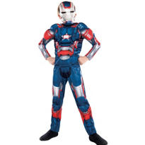 Boys Iron Patriot Muscle Costume - Iron Man 3