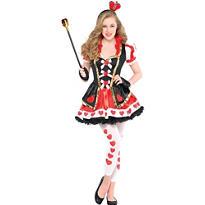Teen Girls Sassy Queen of Hearts Costume