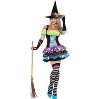 Adult Pop Neon Witch Costume