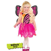 Toddler Girls Barbie Mariposa Costume