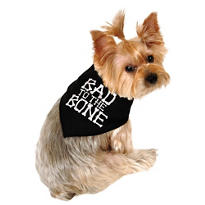 Bad to the Bone Dog Bandana