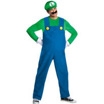 Adult Luigi Costume Premium - Super Mario Brothers