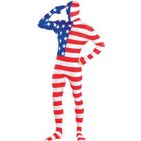 Adult American Flag Partysuit
