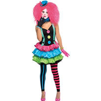 Teen Girls Cool Clown Costume