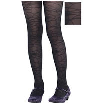 Child Black Spider Web Tights