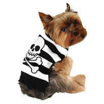 Striped Skull-and-Crossbones Dog Sweater