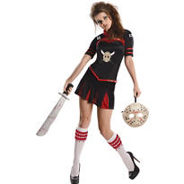Adult Corset Jason Cheerleader Costume - Friday the 13th