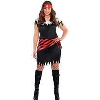 Adult Ahoy Katie Pirate Costume Plus Size