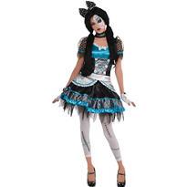 Teen Girls Shattered Doll Costume