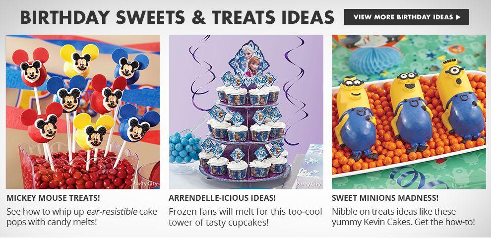 Birthday Sweets and Treats Ideas