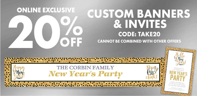 Custom New Year's Invitations & Banners