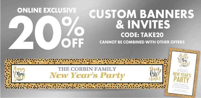Custom New Year's Invitations & Banners