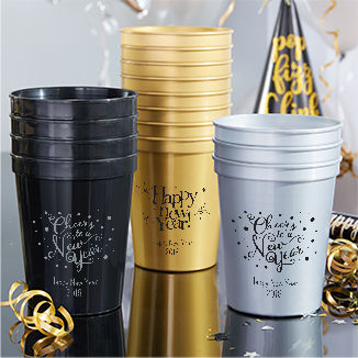 Personalized New Year's Cups
