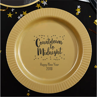 Personalized New Year's  Plates