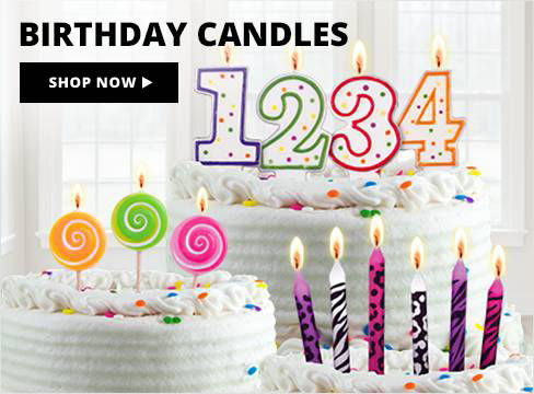 Birthday Candles Shop Now