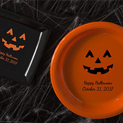 Personalized Halloween Plates