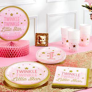 1st Birthday Twinkle Pink