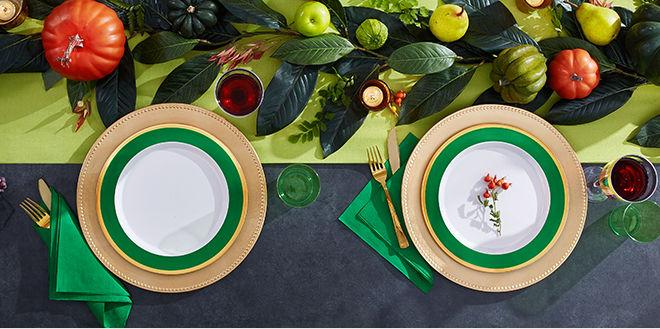 Premium Color Border Tableware