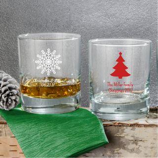 Personalized Christmas Barware