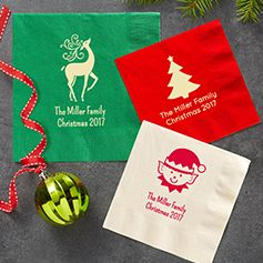 Personalized Christmas Napkins