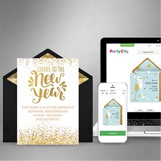 Digital New Year's Invitations