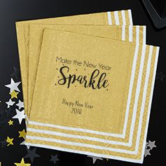 Personalized New Year's Napkins