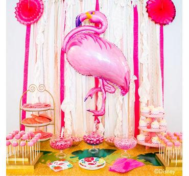 Flamingo Pink Sweets Table Idea