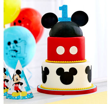 Mickey Mouse Tiered Cake Idea