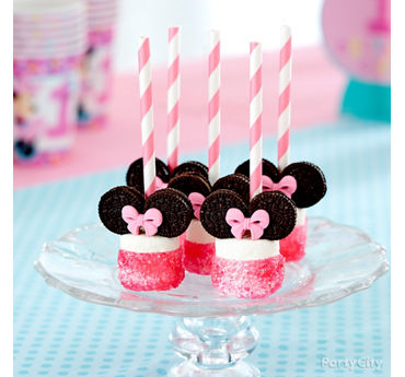 Minnie Marshmallow Treats Idea