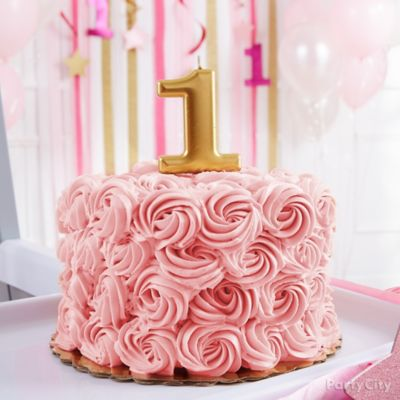 Rosette First Birthday Smash Cake Idea First Birthday Party Ideas