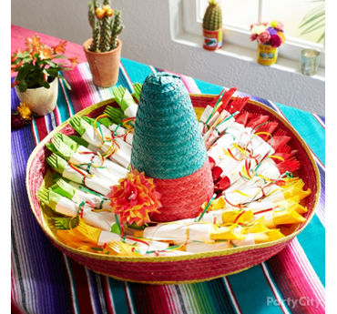 Sombrero Cutlery Display Idea