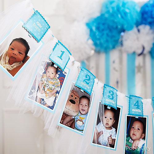 Twinkle Boy Photo Garland Idea