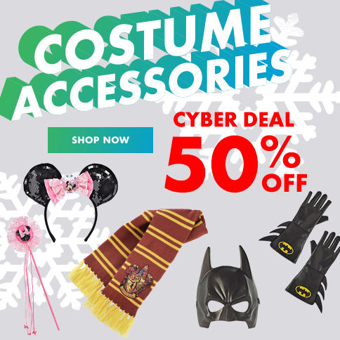 SALE 50% off costume accessories Shop Now