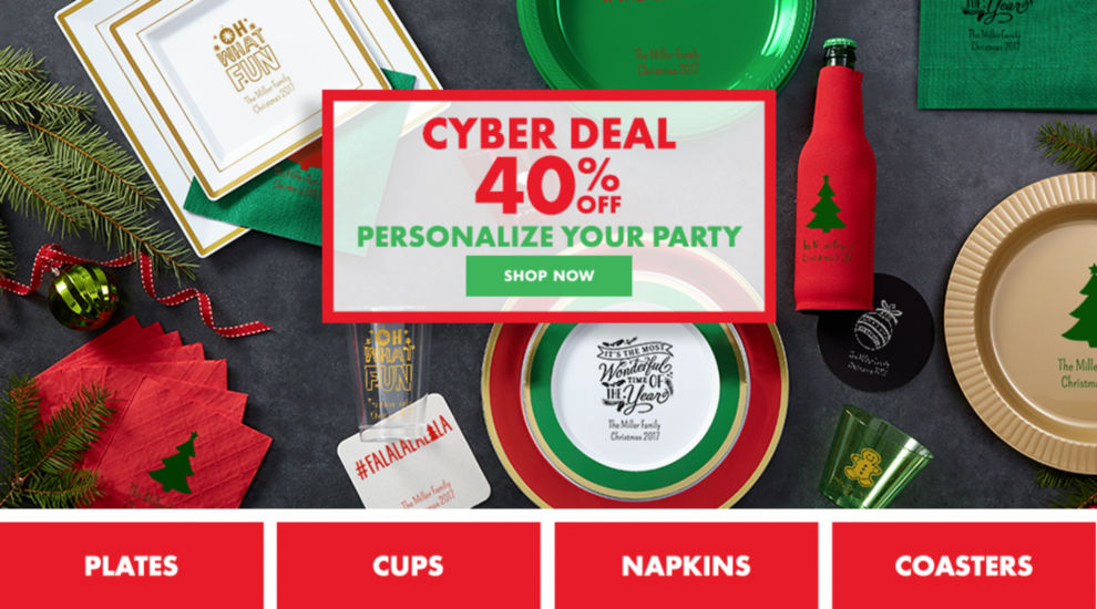 Cyber Deal 40% off Your Party Shop Now