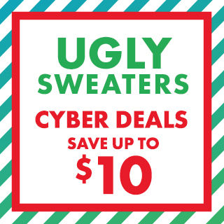 Ugly Sweaters Cyber Deals Save Up to $10
