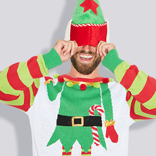 Adult Jolly Elf Ugly Christmas Sweater Cyber Deal $19.99 reg. $29.99 Shop Now