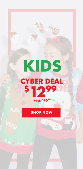 Child Santa Ugly Christmas Sweater Cyber Deal $12.99 reg. $16.99 Shop Now