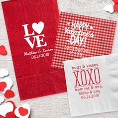 Personalized Valentine's Napkins