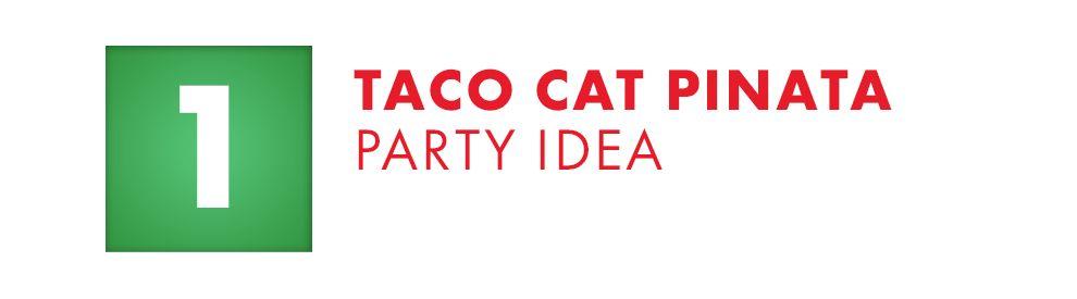 Taco Cat Pinata Party Idea
