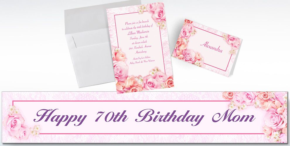 Custom Blossom Invitations and Thank You Notes