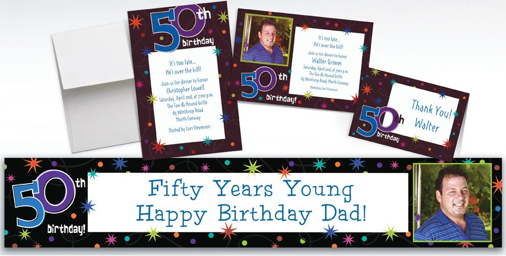 Custom The Party Continues 50th Birthday Invitations