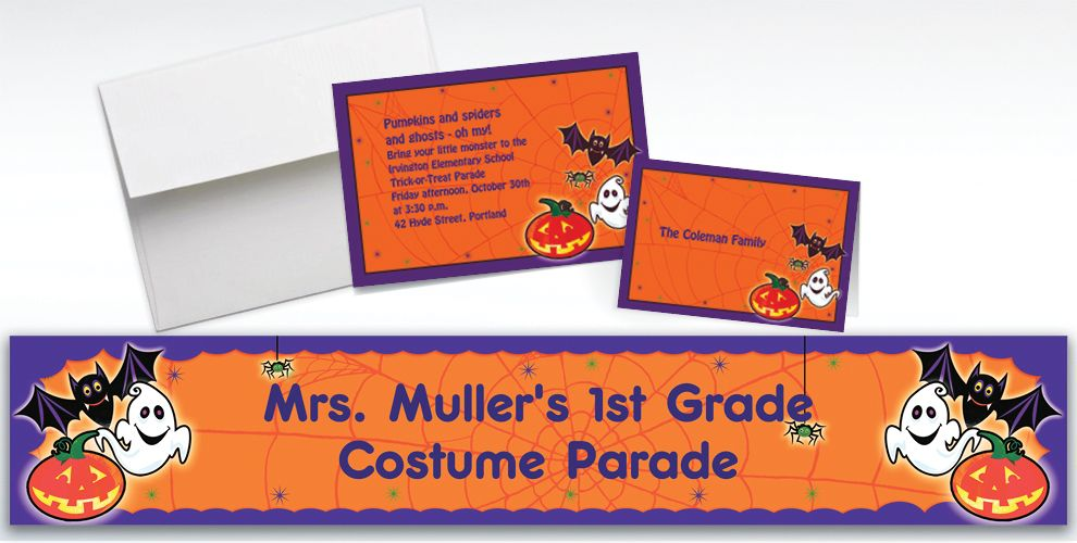Custom Scared Silly Halloween Invitations and Thank You Notes