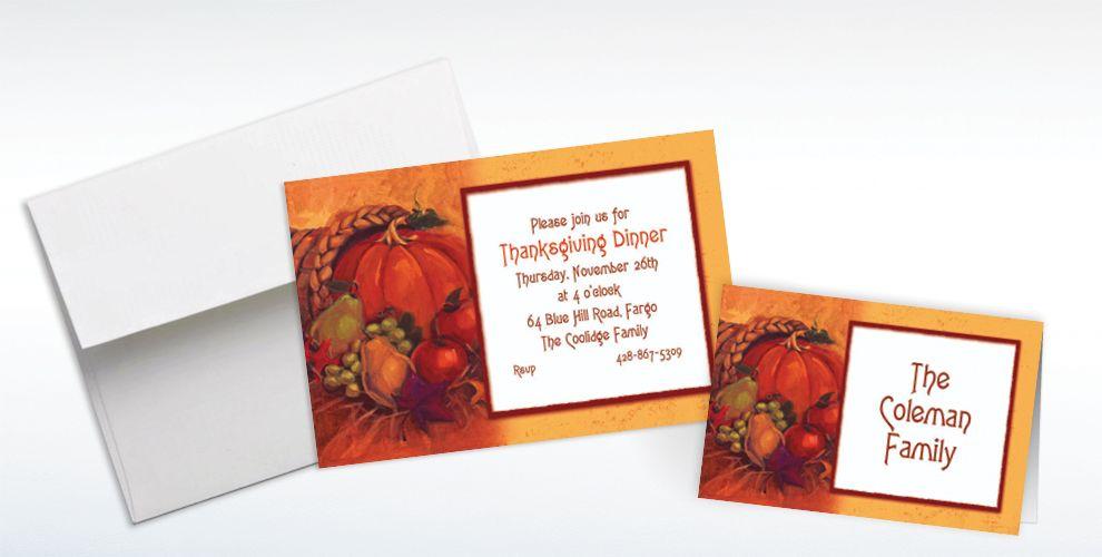 Custom Harvest Still Life Thanksgiving Invitations and Thank You Notes