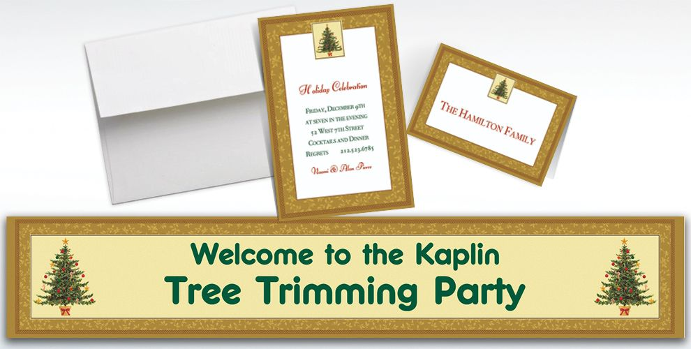 Custom Victorian Tree Invitations and Thank You Notes