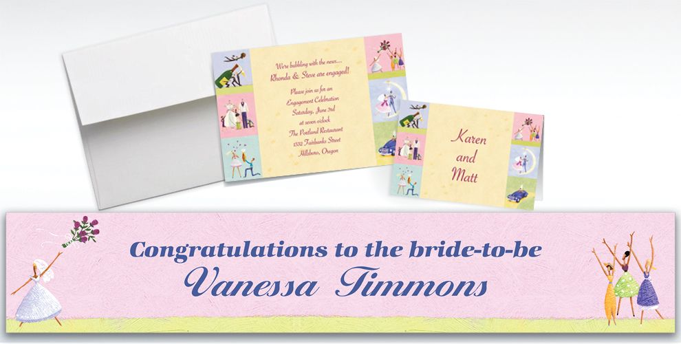 Custom Promise of Love Bridal Shower Invitations and Thank You Notes