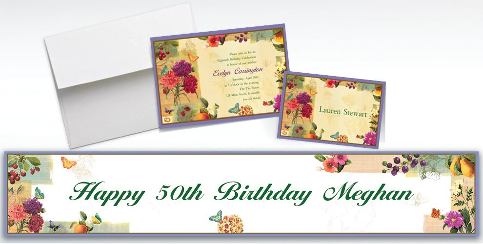 Custom Le Jardin Invitations and Thank You Notes